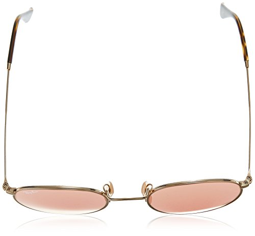 Ray-Ban ROUND METAL - SHINY GOLD Frame COPPER FLASH Lenses 50mm Non-Polarized