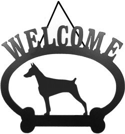 (Welcome Sign Doberman Pinscher)