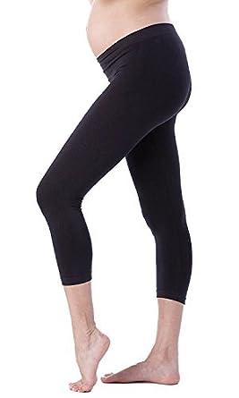 Maternity Leggings Full Length /& Cropped Cotton Pregnancy
