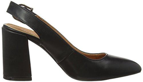 amp;RsquoArri Noir Chaussures Boohoo avec Slingback Pointed amp;Egravere Bride Megan Block Femme Talons l À Heel x6fXgP6