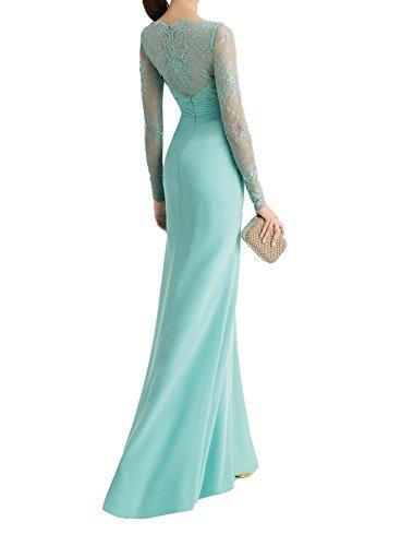 Braut Formalkleider Spitze Gruen Abendkleider Bodenlang Chiffon Hell Elegant mia Festlichkleider standsamt Kleider La 6ZSAwq55