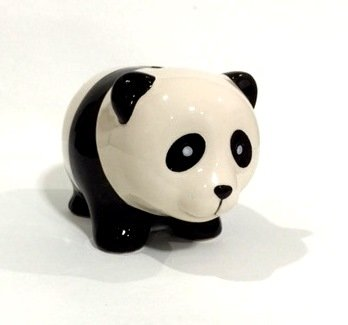 Ceramic Panda Piggy Coin Bank Money Aprox Size 12 X 8 Cm