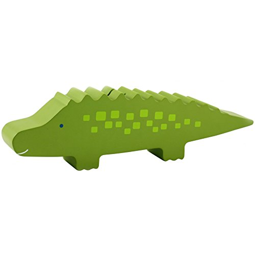 Pearhead Wooden Alligator Piggy Bank, Green from Pearhead
