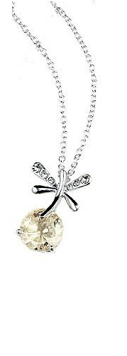 Avon Faux Necklace (Avon Dragonfly Necklace Iridescent Clear faux stone)