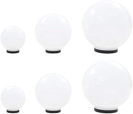 Festnight 6 Unidades Lámparas Bola LED Exterior esféricas PMMA 20/30/40 cm, Lámparas Jardín/Exterior para Jardines, Casas, Patios, Caminos, Calzadas: Amazon.es: Hogar