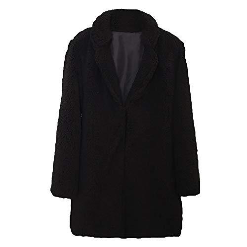 Pro Fleece Sherpa Jacket - YOcheerful Women Jacket Outwear Coat Fall Warm Gilet Tunic Faux Fur Overcoat Blouse (Black,L)