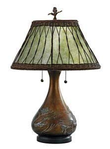 Quoizel MC120T Highland Mica Table Lamp, 2-Light, 120 Watts, Brown (25
