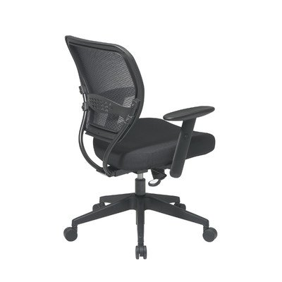 SPACE Professional Air Grid Matrex Mid-Back Managerial Chair with Arms Fabric: Icon - Grey