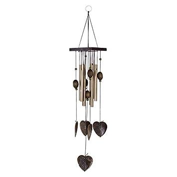 carillon de vent bronze 10 grandes cloches en m tal bois suspendu d coration de jardin www. Black Bedroom Furniture Sets. Home Design Ideas