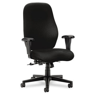 HON 7800 Series High-Back Executive/Task Chair, Tectonic Black - Chair Black Tectonic Fabric