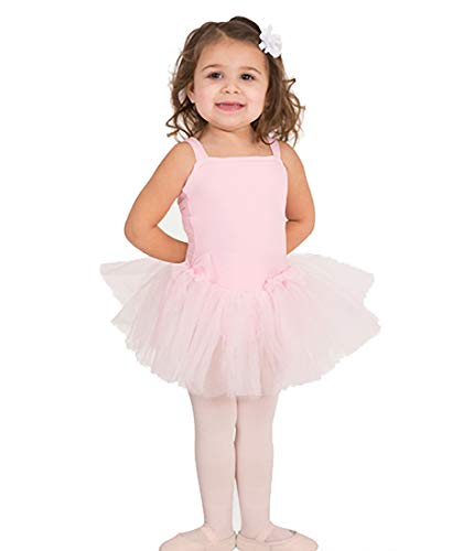 Body Wrappers Little Girls Wide Strap Camisole Leotard (2225) -Light Pink -1214 ()