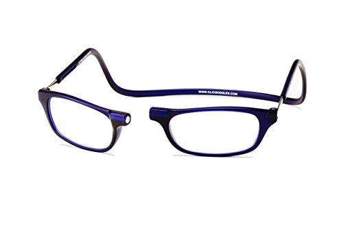 Clic Magnetic Reading Glasses in Frosted-Blue ; +1.50 ()