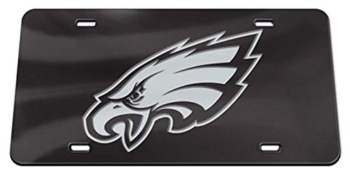 Philadelphia Eagles WC Premium BLACK Laser Tag Acrylic Inlaid License Plate Football ()