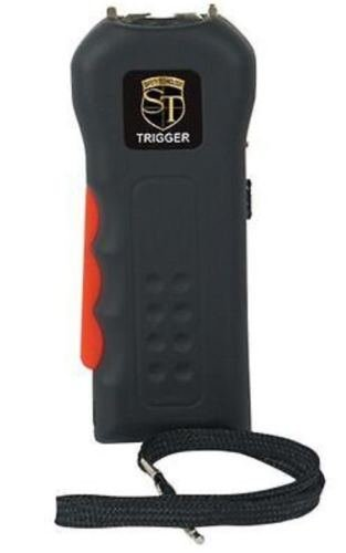 18 Million Volt Rechargeable BLACK POLICE Defense Hand Stun Gun +FREE taser CASE by TRIGGER