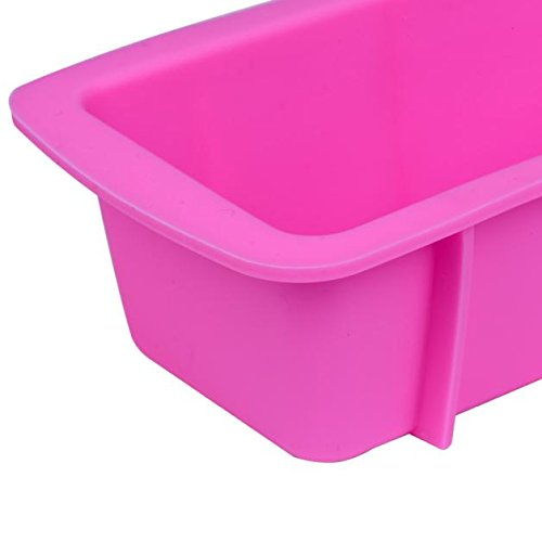 Silicone Bread Loaf Cake Mold Non Stick Bakeware Baking Pan Oven Rectangle Mould 6.33.31.9Inch by Fenleo