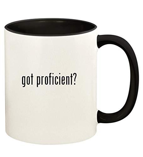got proficient? - 11oz Ceramic Colored Handle and Inside Coffee Mug Cup, Black