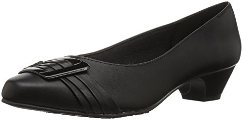 (Soft Style by Hush Puppies Women's Pleats Be with You Dress Pump, Black/Patent, 8.5 W US)