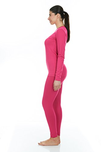 97509668 Thermajane Women's Ultra Soft Thermal Underwear Long Johns Set with Fleece  Lined (XX-Small
