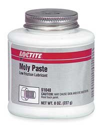 Anti Seize, Moly Paste, 8oz. Brush Top Can by Loctite