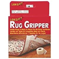 Lok-Lift Optimum Technologies Rug Gripper Slip-Resistant Rug Tape for Rugs and Mats, 2.5-Inches by 25-Feet