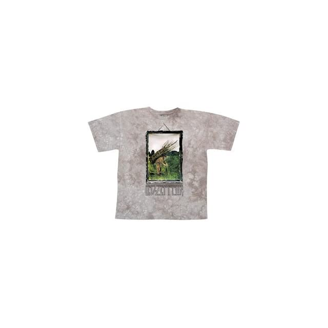 Led Zeppelin Man With Sticks Tie Dye T shirt Clothing