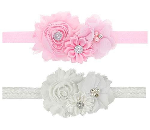 LD DRESS Lovely Baby Girl Headbands Rhinestone Flower Princess (28) (ZH8)