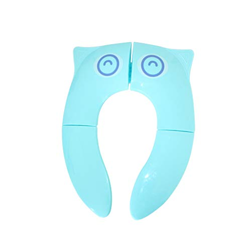 Ktyssp Folding Large Pads Travel Portable Reusable Toilet Potty Seat Covers (E)
