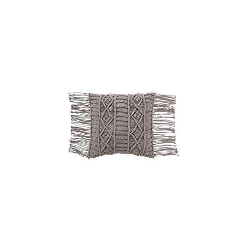 J-line - Cojín macramé de algodón, Color Gris: Amazon.es ...