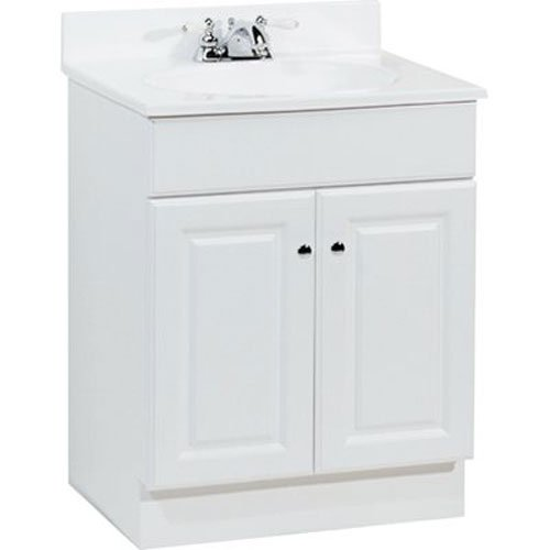 Rsi Home Products Sales C14124A Richmond Durable White Finish Vanity, 24-1/2'' by 18-1/2'' by 35-1/4''