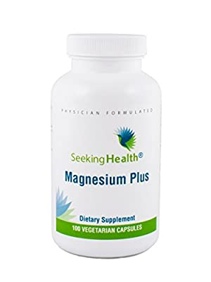 Magnesium Plus | Vitamin B6 Plus Magnesium Supplement | 100 Vegetarian Capsules | Seeking Health | Physician Formulated