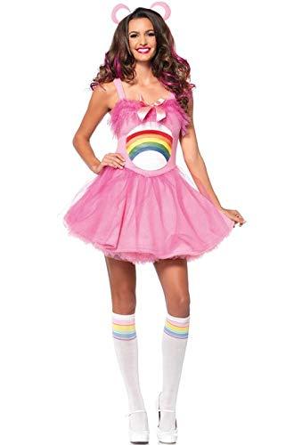 Leg Avenue Women's Care Bears 2 Piece Cheer Bear Costume, Light Pink, -
