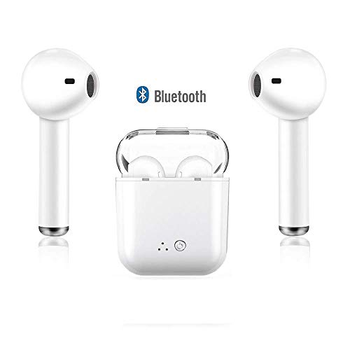 Wireless Bluetooth Headset, Lightweight Wireless Headset for Sports Exercise, Noise Cancelling Stereo Wireless Bluetooth Earphones for Apple Airpods Android iPhone
