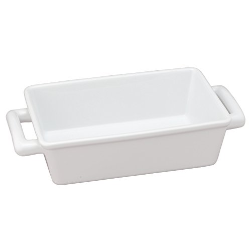 Small Rectangular Baker (HIC Oblong Rectangular Baking Dish Roasting Individual Lasagna Pan, Fine White Porcelain, 8.5-Inches x 5.5-Inches x 2.5-Inches)