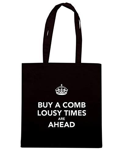 Borsa TIMES ARE TKC3551 BUY LOUSY Speed COMB Nera Shopper AHEAD Shirt A 5qHnWxzw17