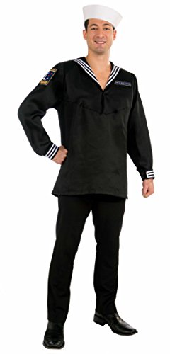 [Forum Novelties Men's Deluxe High Seas Sailor Costume Top, Multi, One Size] (Male Sailor Costumes Halloween)