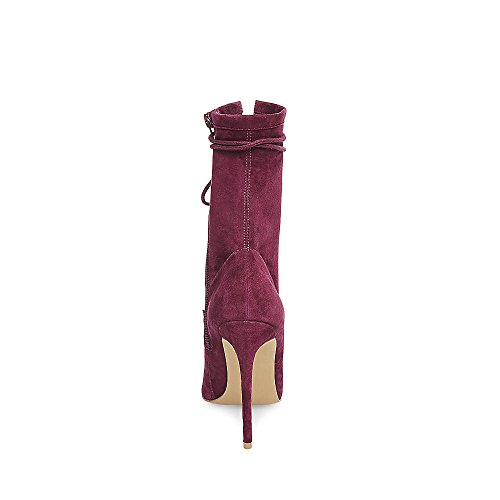 Steve Madden Frauen zufriedene Mode Stiefel Burgunder Wildleder