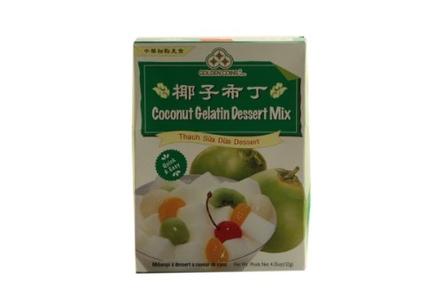 1 x 4.35oz Golden Coins Coconut Gelatin Oriental Dessert Mix. Just Add Water. Product of -