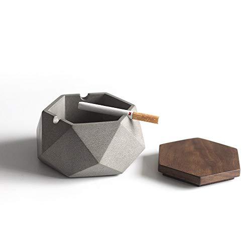 マイナー脅威非難するタバコのための大きい防風灰皿パティオのための屋外の灰皿家/オフィスのための美しい卓上の煙の灰皿