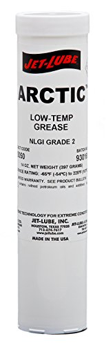 Jet Aircraft Sales - Jet-Lube 35050 Arctic Extreme Cold Temperature Grease, -65 to 225 degrees F, 2 NLGI Number, 14 oz Cartridge, Amber