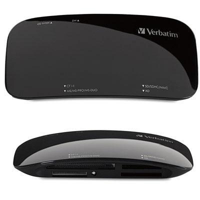 (Wholesale CASE of 10 - Verbatim USB 2 Universal Card Reader-Universal Card Reader, USB 2.0, Black)