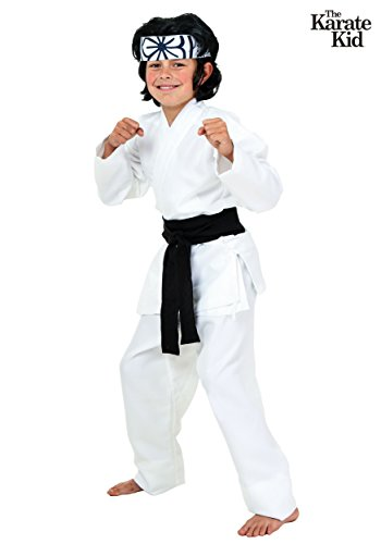 Child Karate Chop Daniel San Black Belt Costume - M -