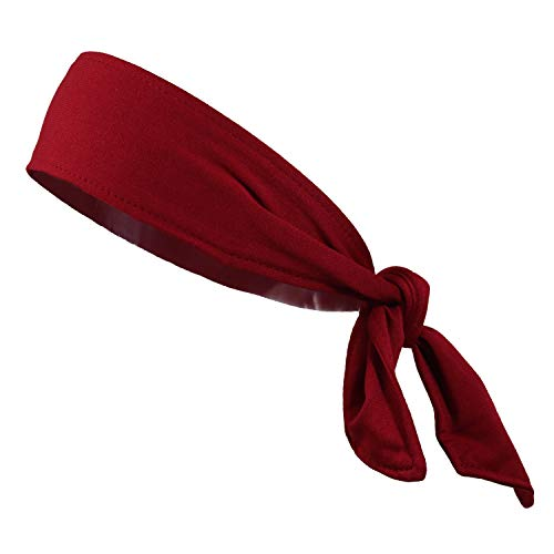 (Headbands Tie on Headband for Women Men Running Athletic Hair Head Band Elastic Sports Sweat Basketball Sweatband Stetchy Yoga Workout Sweatbands Adjustable Non-Slip Moisture Wicking)