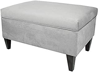 product image for MJL Furniture Designs Brooklyn Collection Large Upholstered Living Room Lift Top Storage Ottoman, Ennis Series, Gray