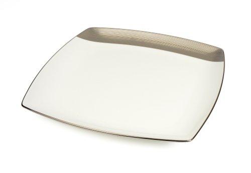 Mikasa Ridge Square Platinum Square Platter, ()