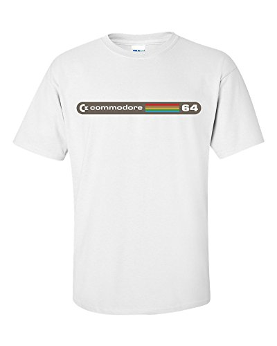 Commodore 64 Logo T-Shirt for Men, white