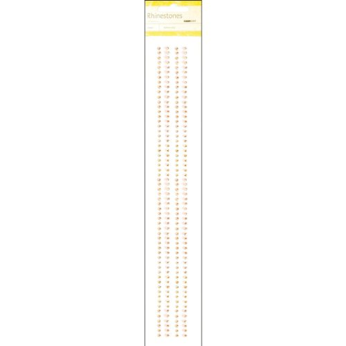 - Kaisercraft RS449 Self-Adhesive 3mm Rhinestone Strip, 12-Inch, Tangerine, 4/Pack