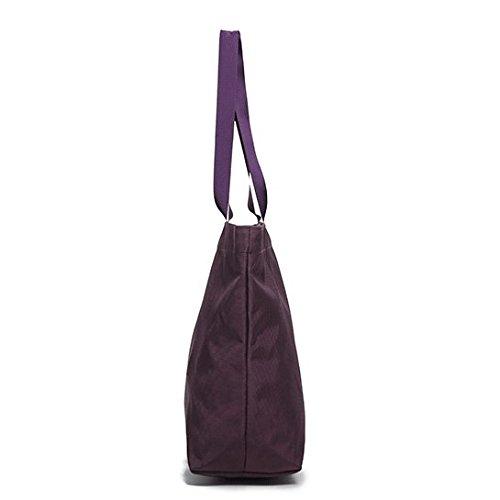 Escolar Para Bolsos Bolsillo Diseo Con Elegante Exclusivo Impermeable Tote Casual Multi Purple Trabajo Dacron Tarjetas Para Ranuras El qRqBzr