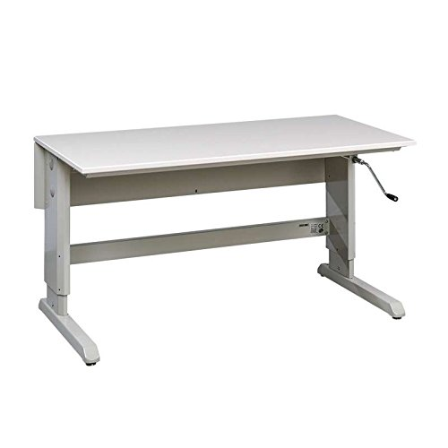Concept Series Non-ESD Hand Crank Work Table Frame With Grey Laminate Work Surface 30