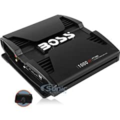 Drive up the volume with the Boss Audio Phantom PT1000 2-Channel Class A/B Full Range Amplifier. This powerful 2-Ohm stable amplifier features 1000 Watts Max Power with a MOSFET power supply to rock your tunes. Customize the sound with the Va...