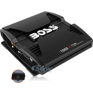 BOSS Audio PT1000 Phantom 1000 Watt, 2 Channel, 2/4 Ohm Stable Class A/B, Full Range, Bridgeable, MOSFET Car Amplifier with Remote Subwoofer -